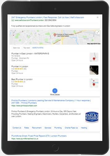 google map pack on ipad