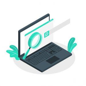 organic results on laptop