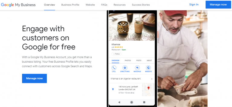 google my business sign in page